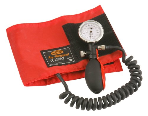 Accoson Duplex Portable Aneroid Sphygmomanometer - Red