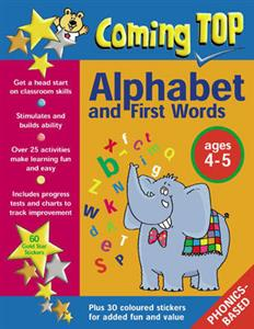 Coming Top: Alphabet and First Words Ages 4-5: Sticker Books