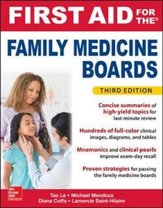 First Aid for the Family Medicine Boards, Third Edition